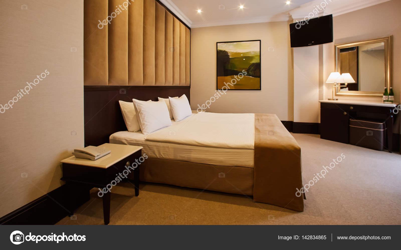 Lindo Quarto Decoração Design De Interiores No Hotel U2014 Fotografia De Stock