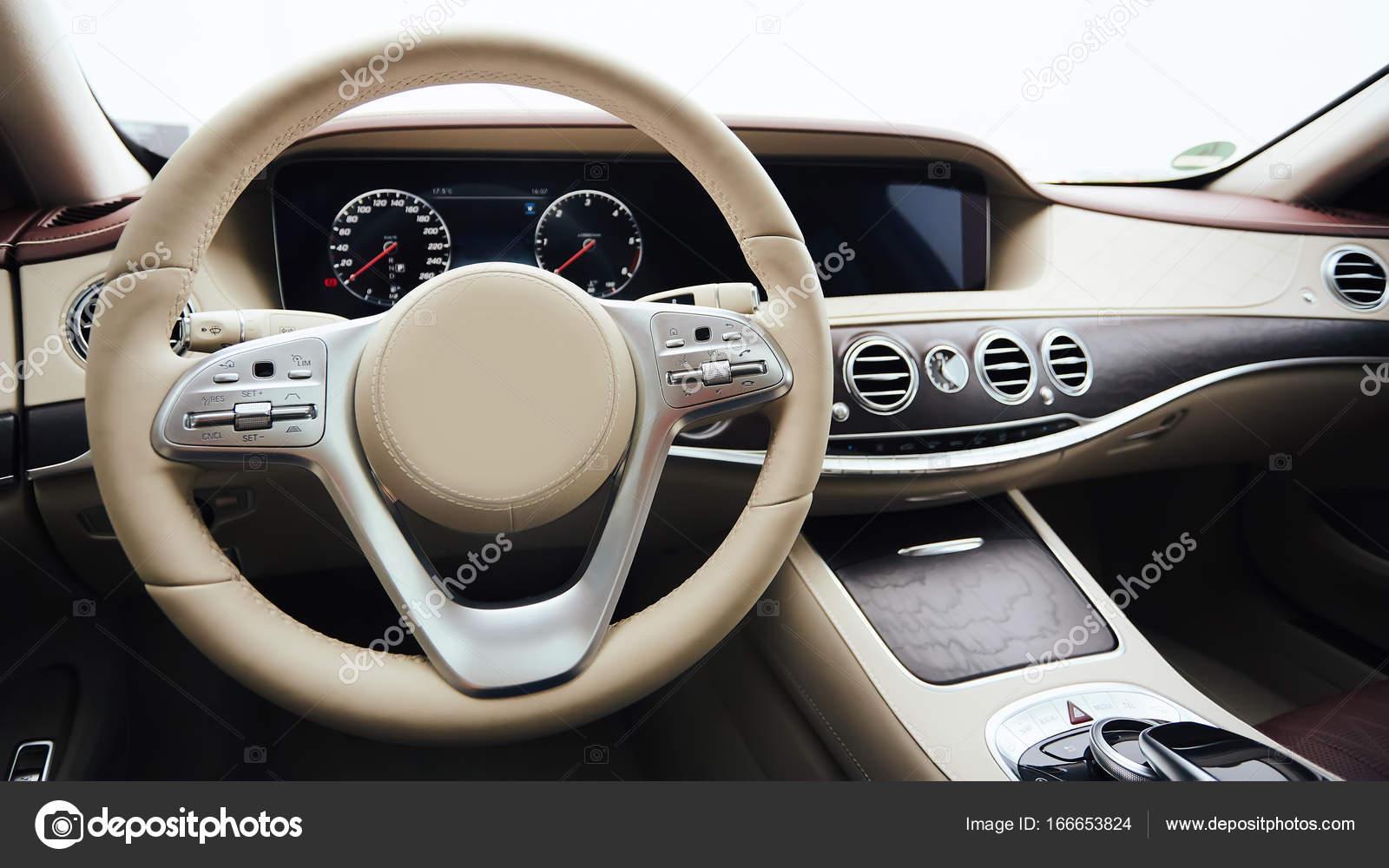 Car interior luxury  Interior of prestige modern car