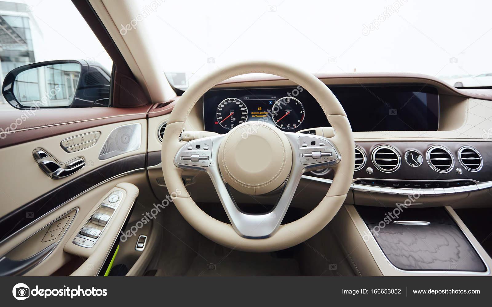 Car Interior Luxury Interior Of Prestige Modern Car Leather