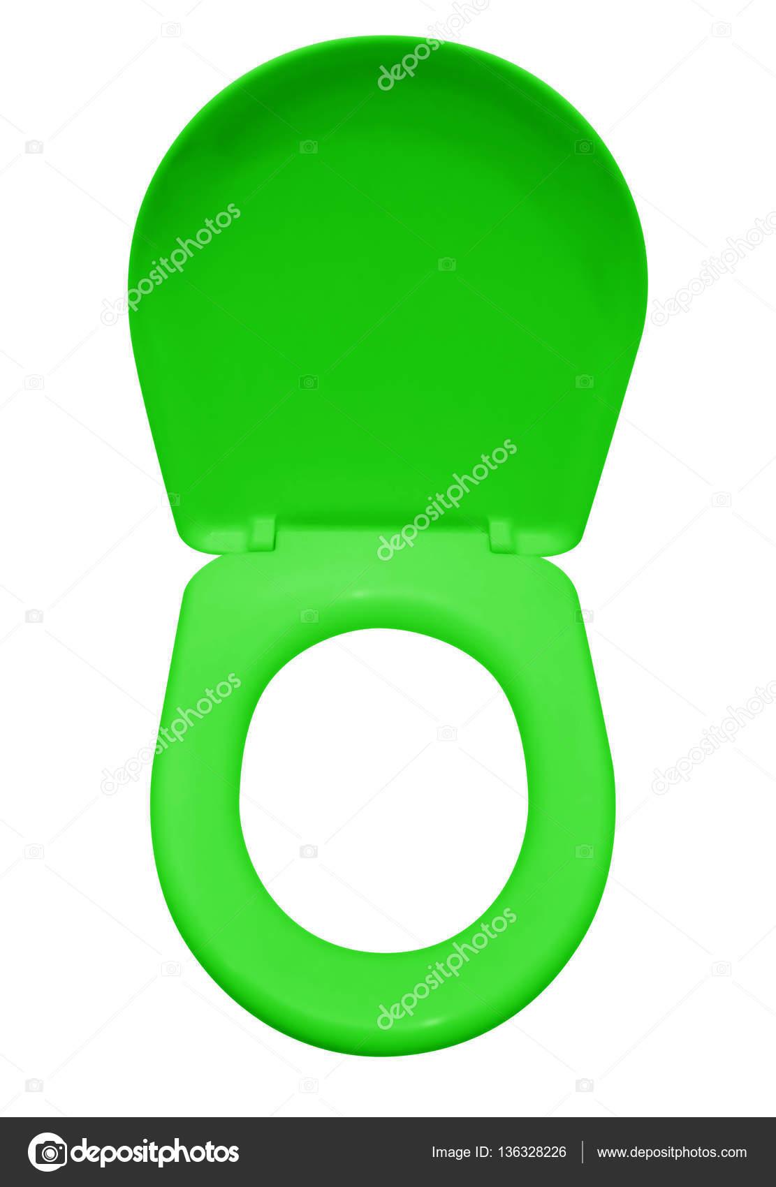 db10d6e6503241 Groene wc-bril op wit wordt geïsoleerd. Uitknippad opgenomen — Foto van ...