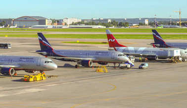 Moscow - Airplanes in the Sheremetyevo airport