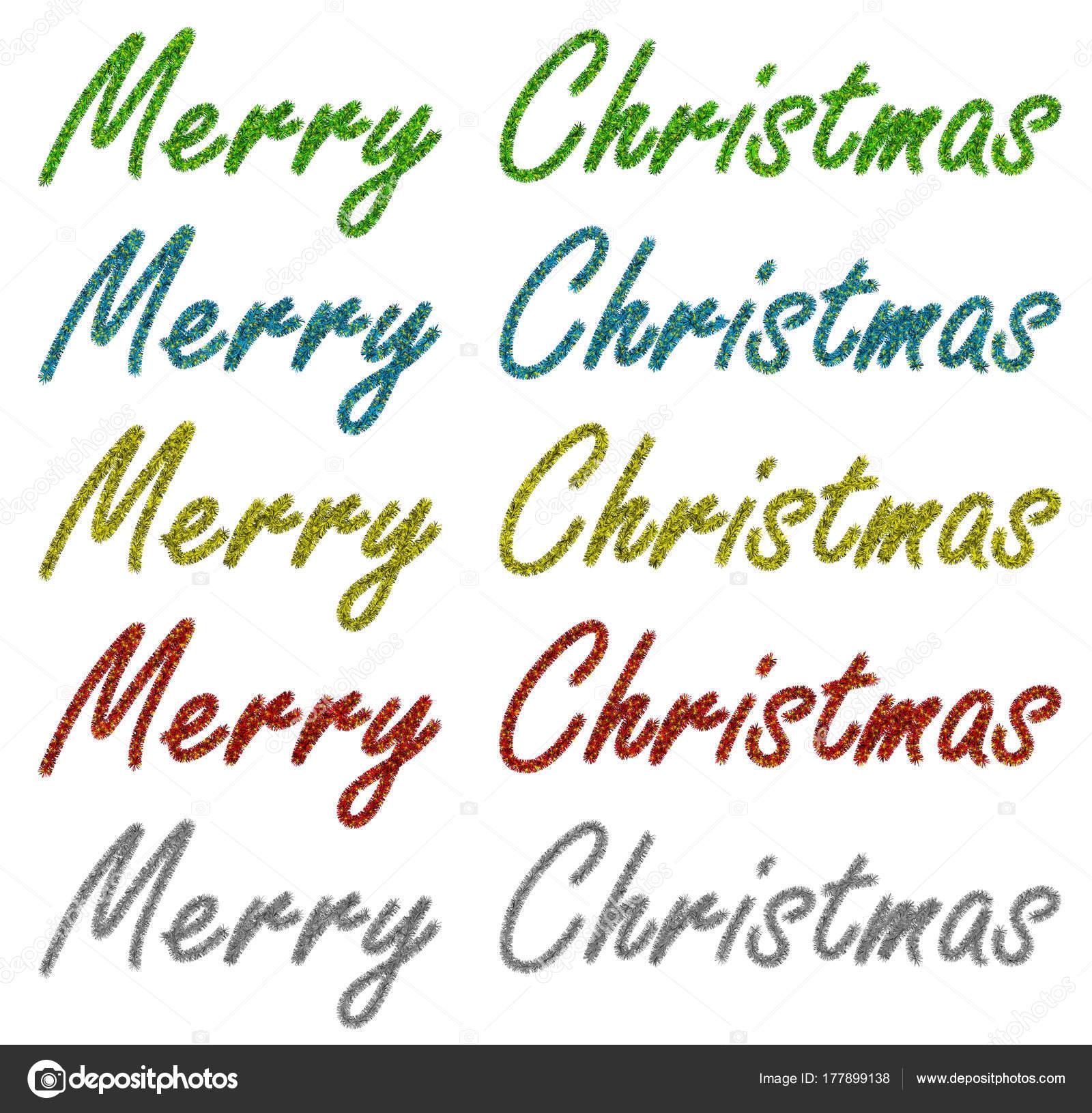 Girlande aus Lametta - Frohe Weihnachten — Stockfoto © venakr #177899138