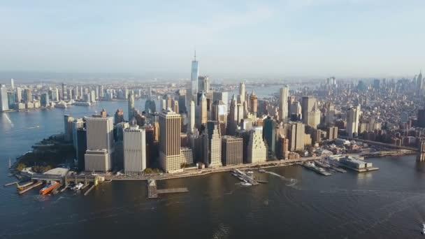 Luftaufnahme des Manhattan District am Ufer des East River wunderschönes Stadtbild von New York Amerika