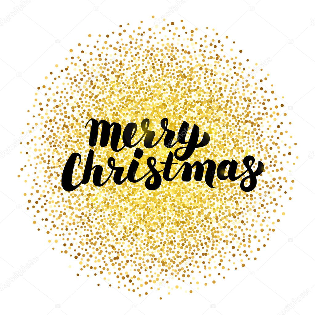 Frohe Weihnachten Gold.Frohe Weihnachten Schriftzug In Gold Stockvektor Anna Leni