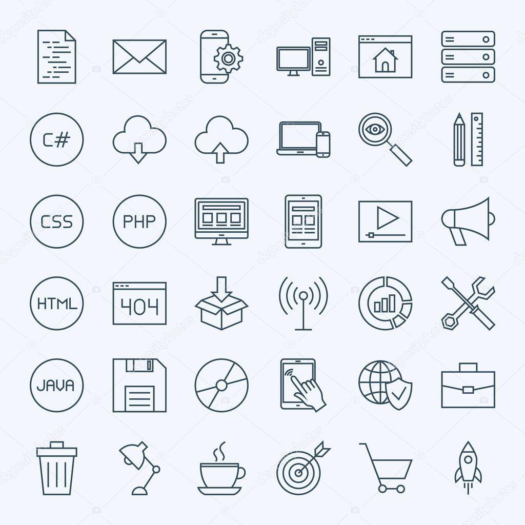 Line Coding Icons