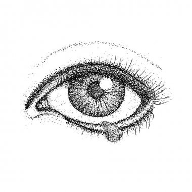 Crying Eye Dotwork