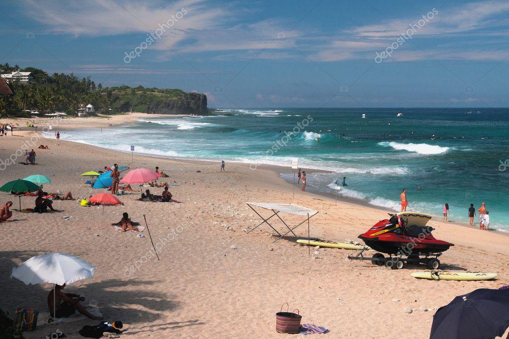 Beach and ocean. Boucan Canot, Reunion