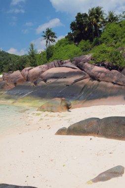 Island of volcanic origin. Baie Lazare, Mahe, Seychelles