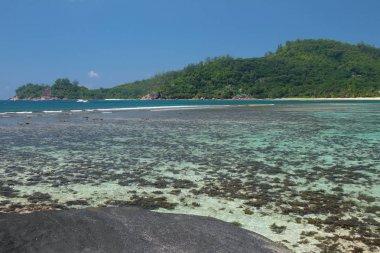 Gulf on tropical island. Baie Lazare, Mahe, Seychelles