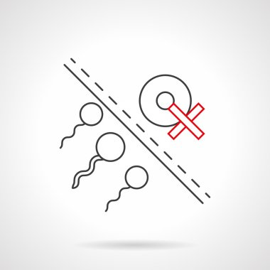 Risk of infertility flat line vector icon