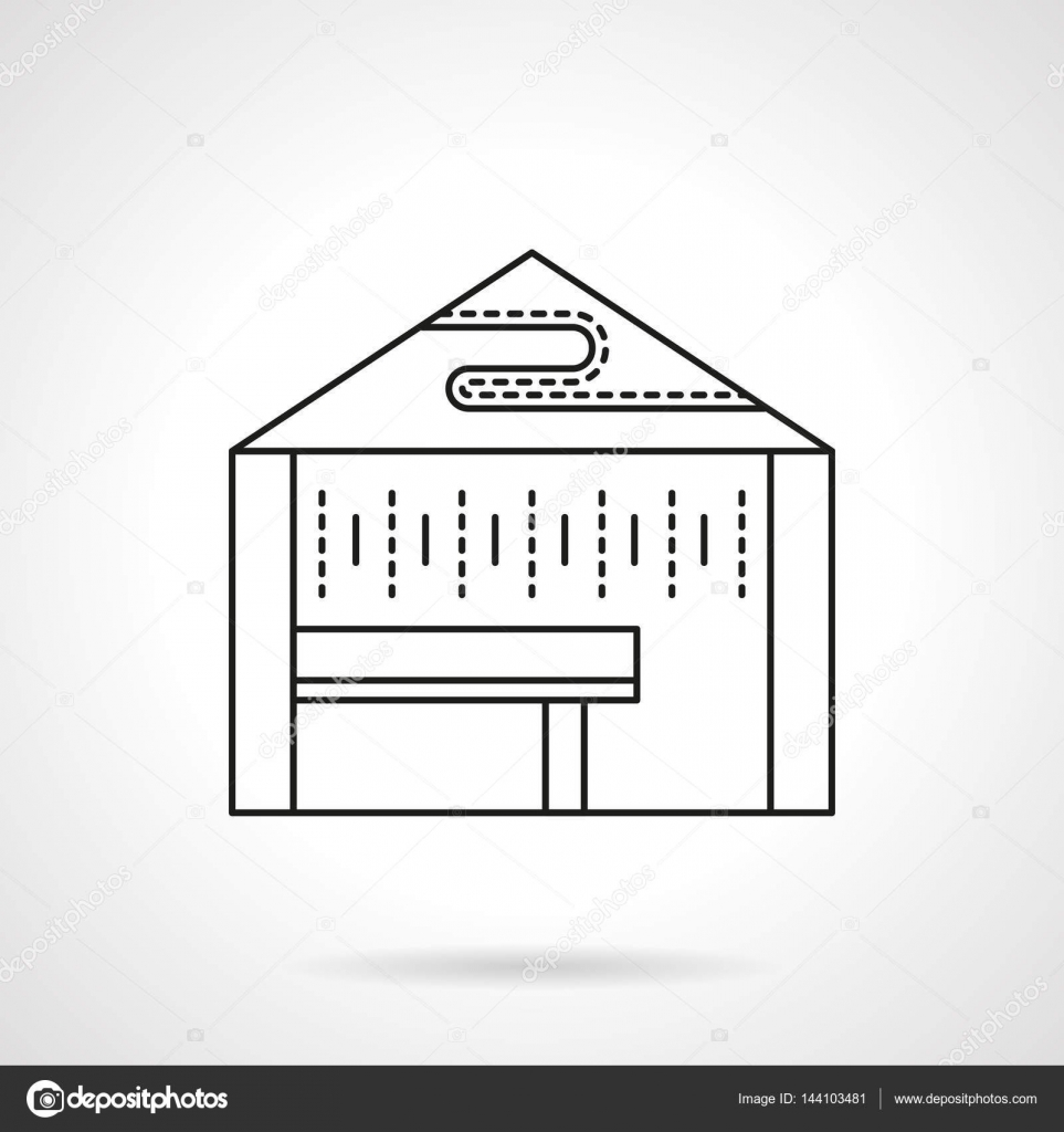 Promotional Tent Flat Line Vector Icon Stock Vector