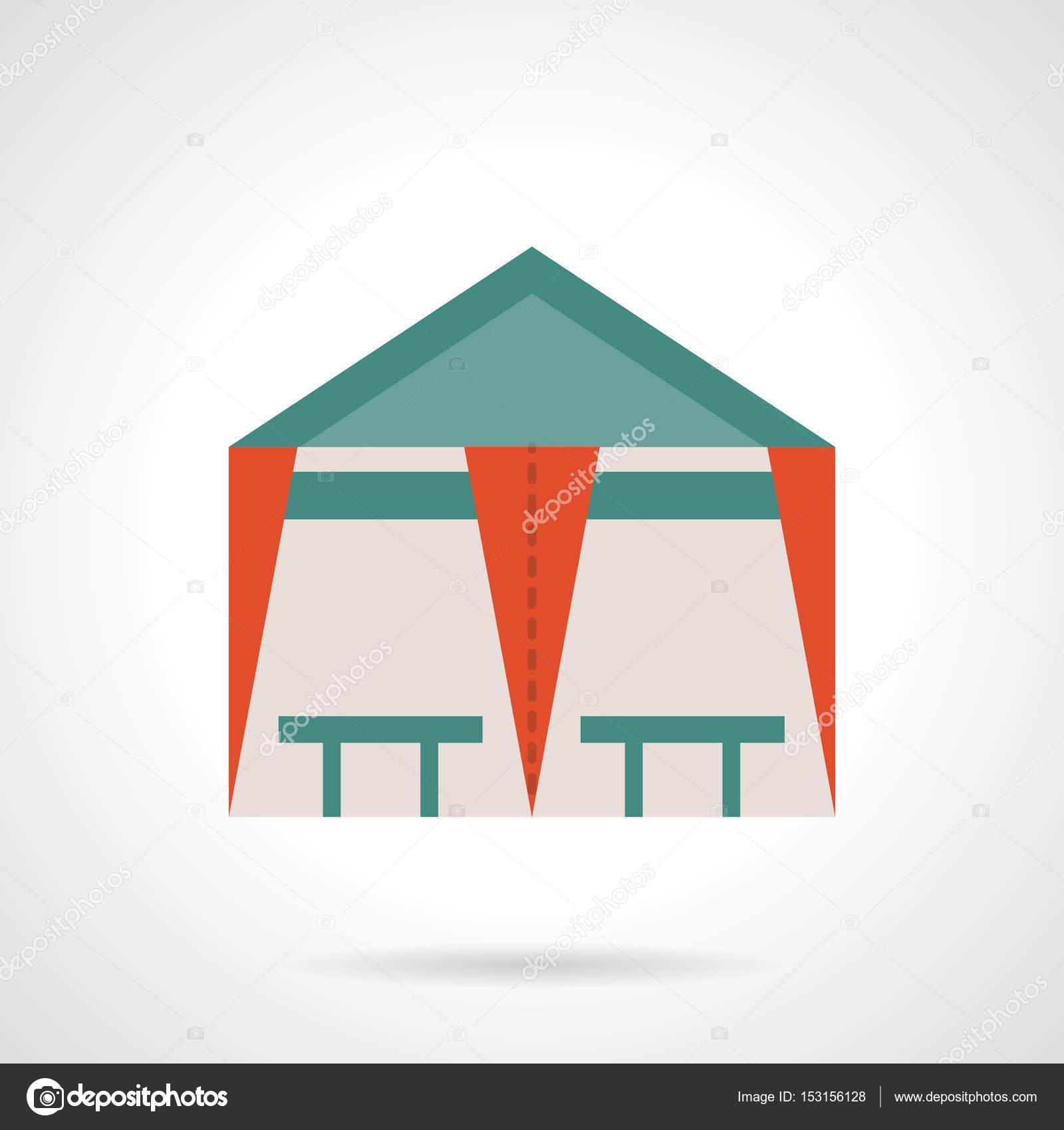 Icono de vector de tienda cafetería color plano — Archivo Imágenes ...