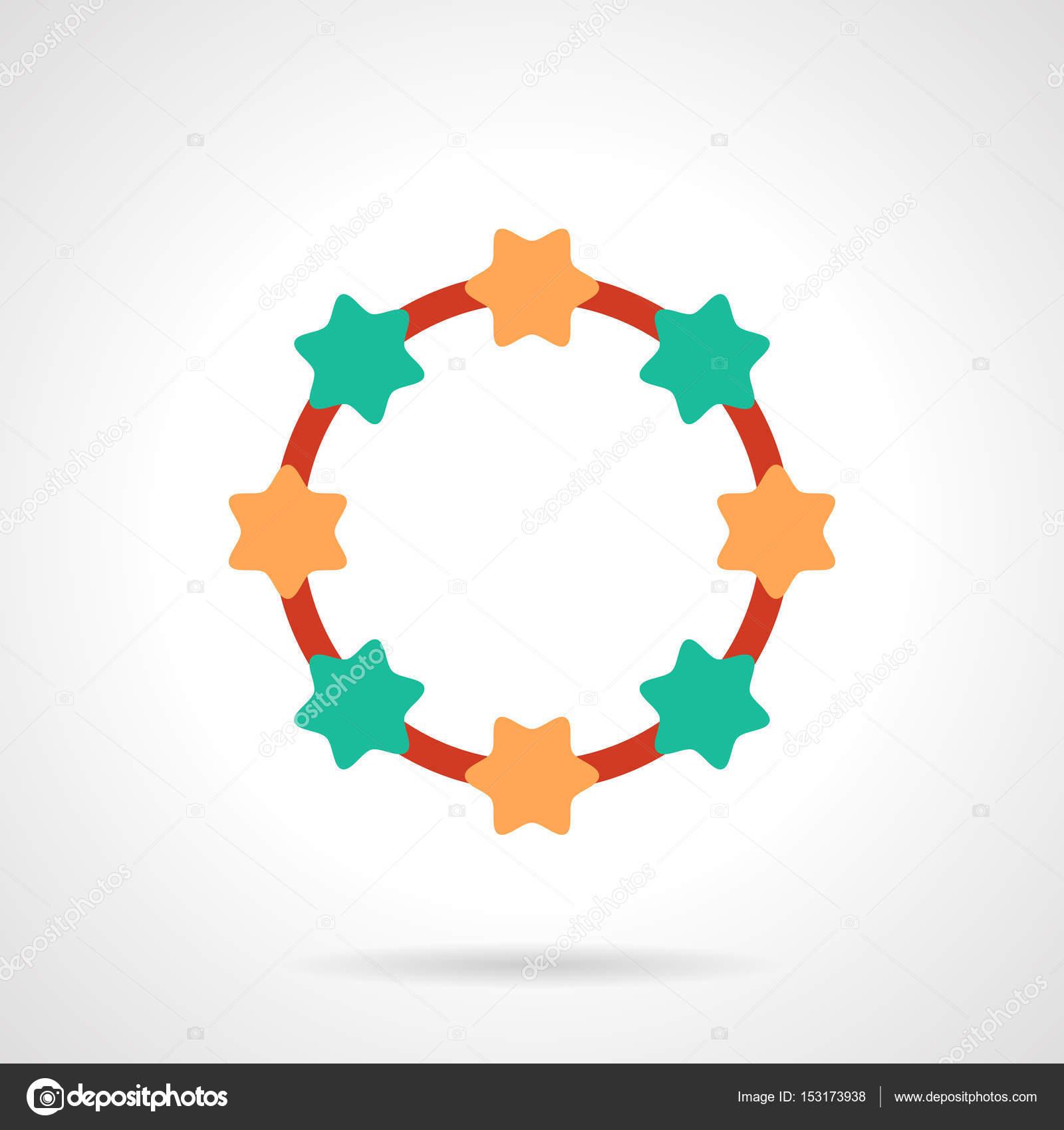096b5ae0a0c0 Icono de vector colorido collar perlas color plano — Vector de stock ...
