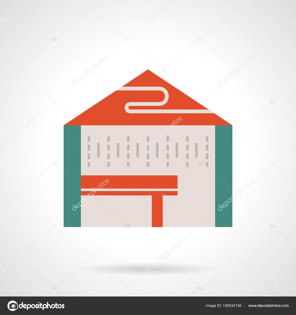 Rent Tents For Trade Flat Color Vector Icon Stock Vector