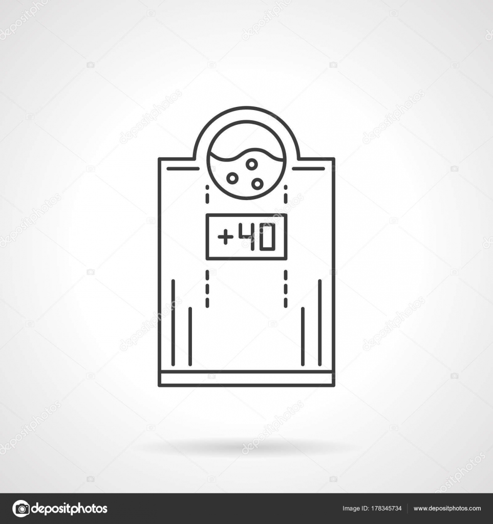 Electric water heater flat line vector icon stock vector symbol of electric water heater with temperature 40 household appliances and heating system equipment flat black line vector icon biocorpaavc