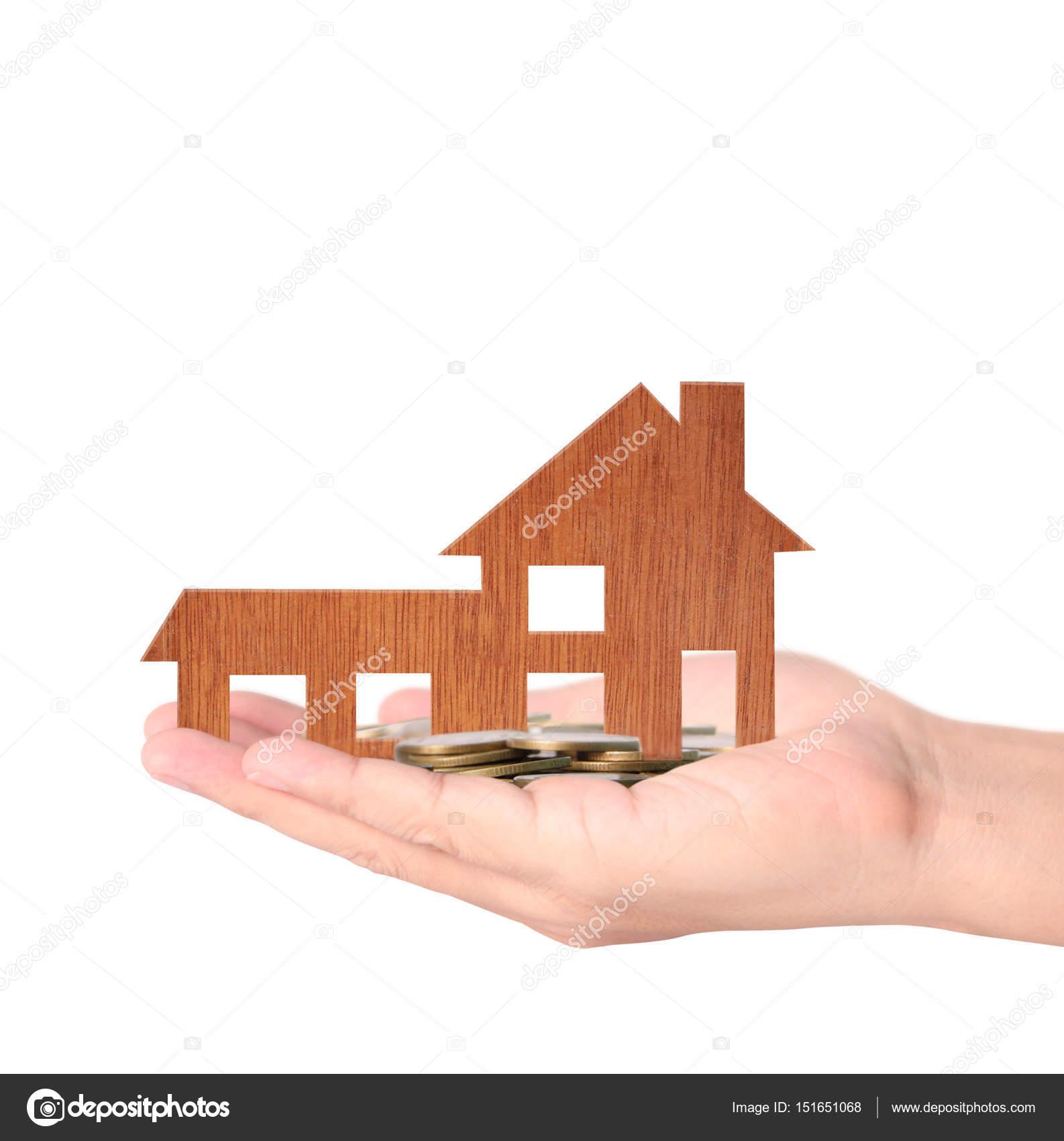 Mutui in mano il concetto di casa da foto stock for Aprire i piani casa artigiano concetto
