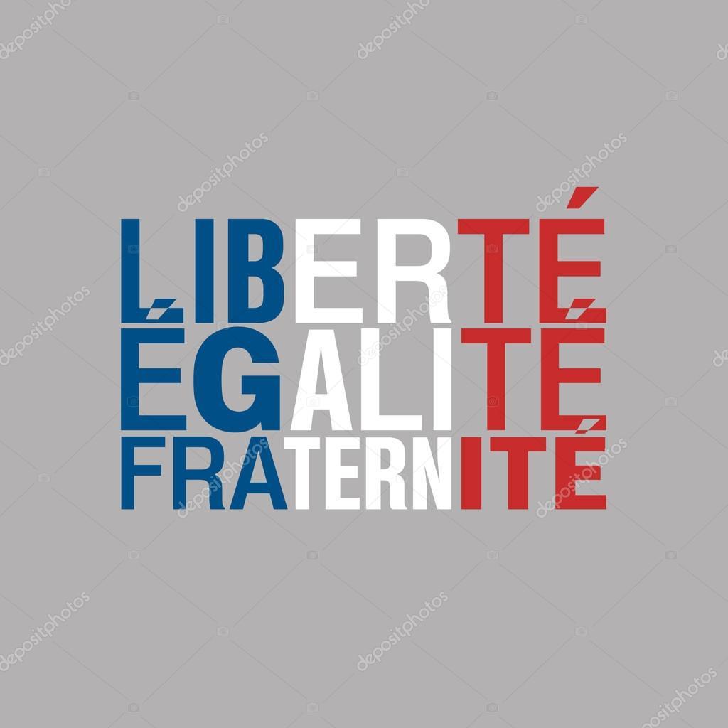 Well-known Bandeira da tipografia da França. Tricolor francês. Liberdade  YI09
