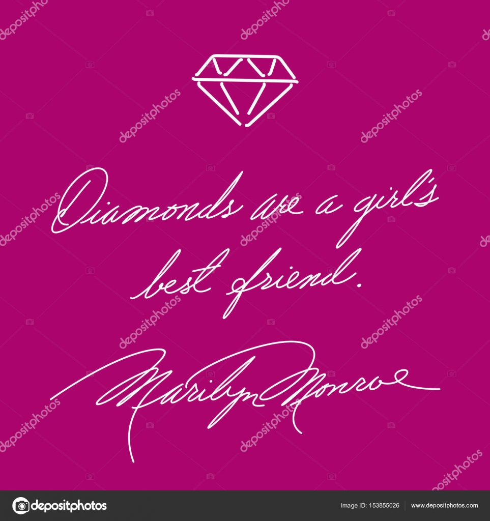 Diamonds Are A Girls Best Friend Fashion Quote Marilyn