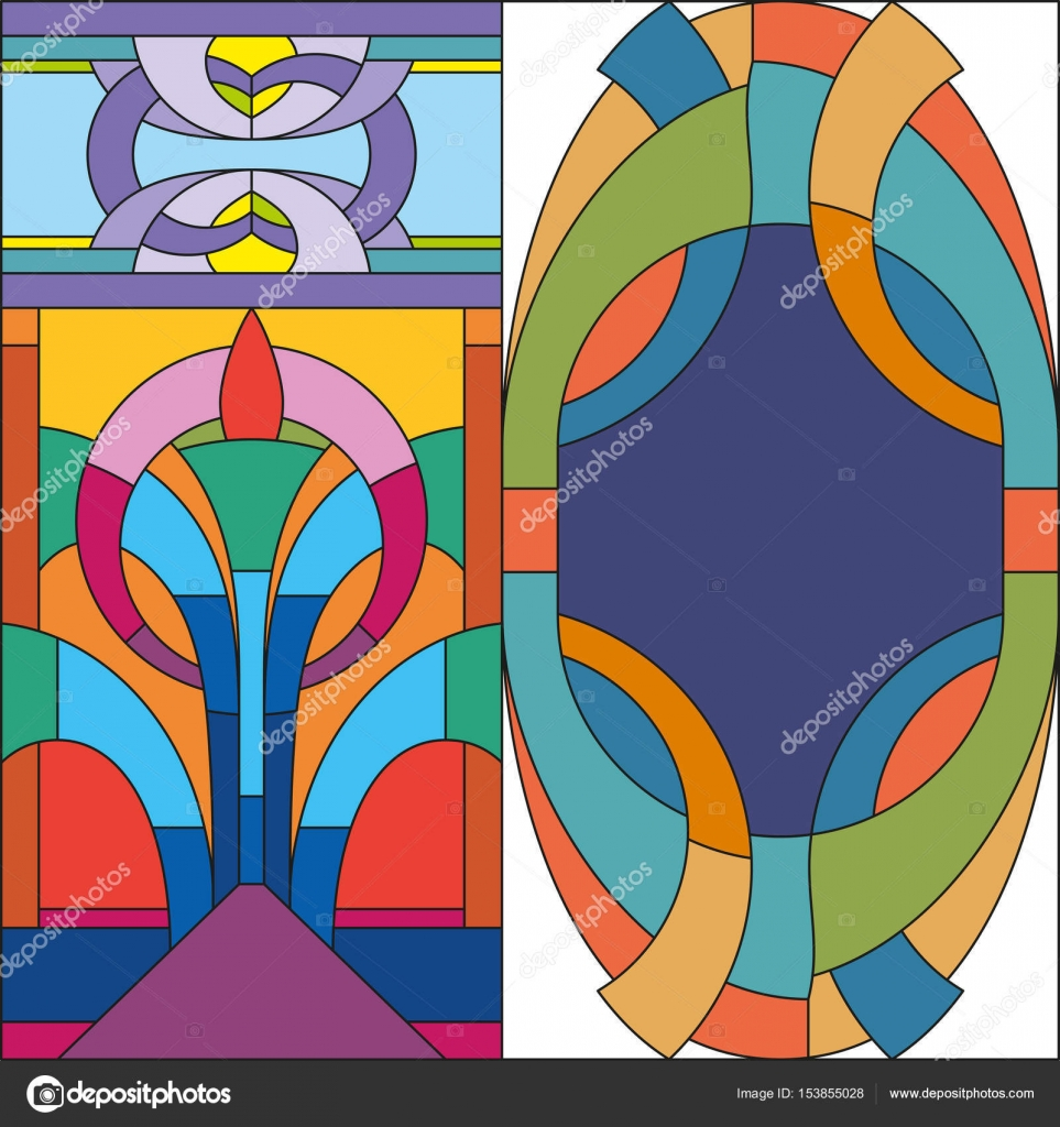 Abstract Stained Glass Art Patterns