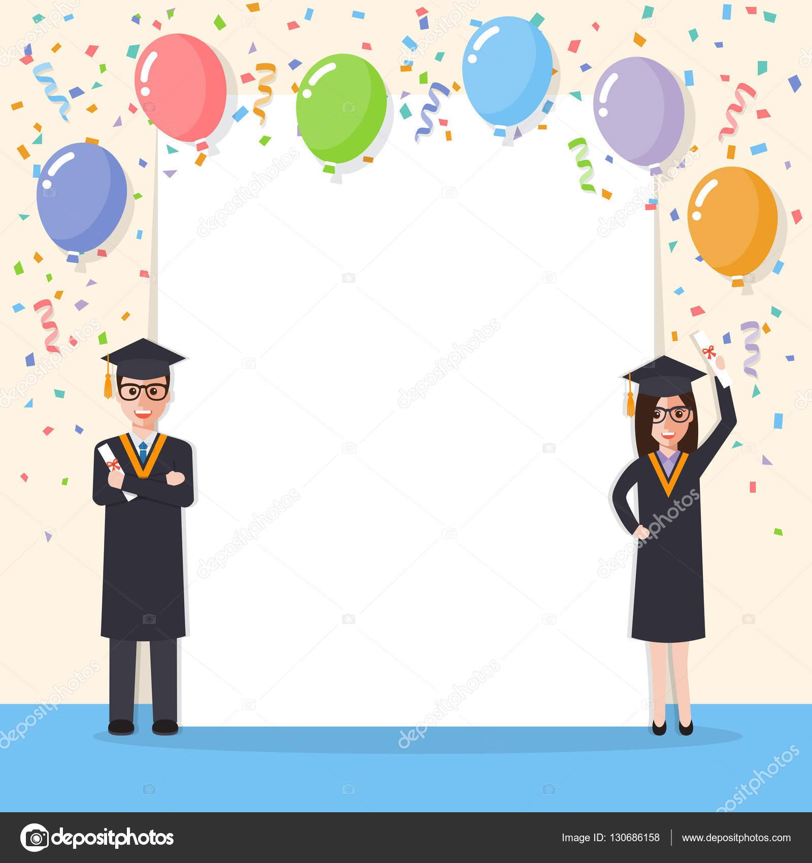 f838b5176 Celebración de graduación los estudiantes — Archivo Imágenes Vectoriales