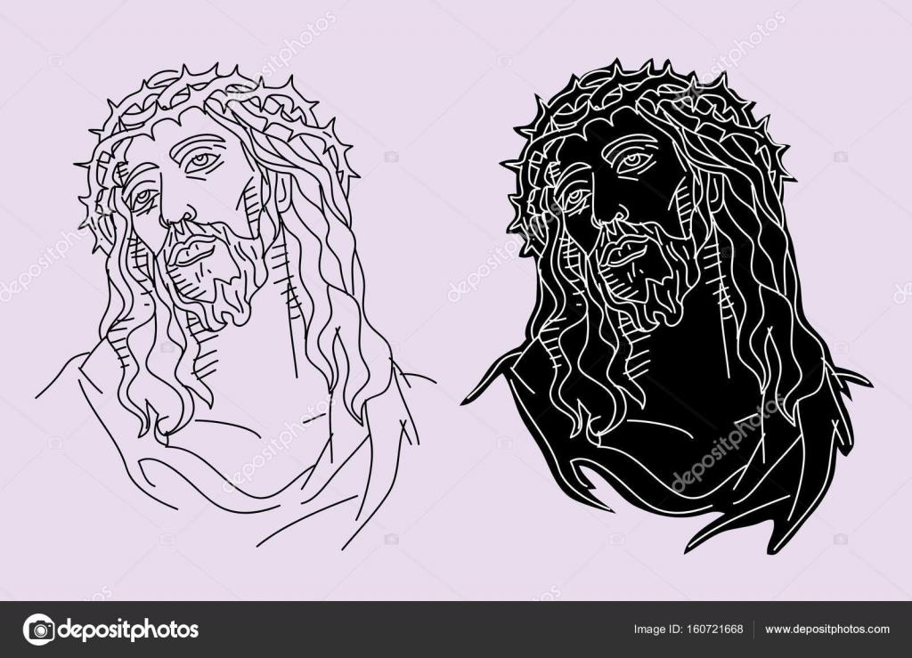 Silhouette of jesus face | Jesus Christ Face Silhouette ...