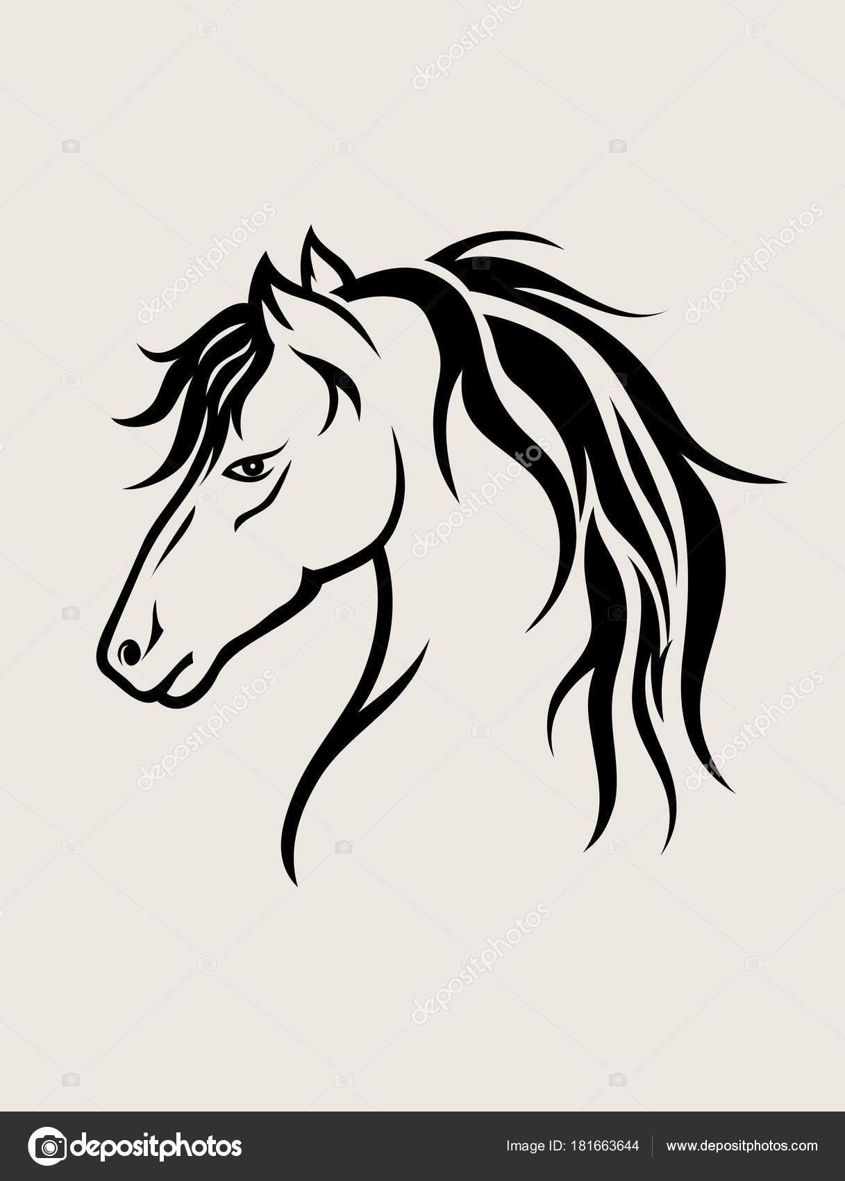 Horse Face Art Horse Face Art Vector Design Stock Vector C Sumbajimartinus 181663644