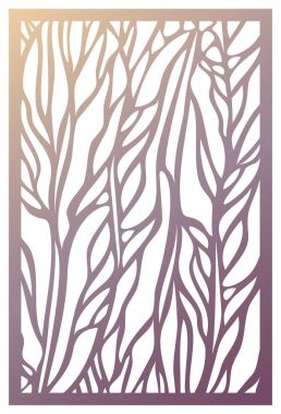 Vector Laser cut panel. Abstract Pattern template for decorative
