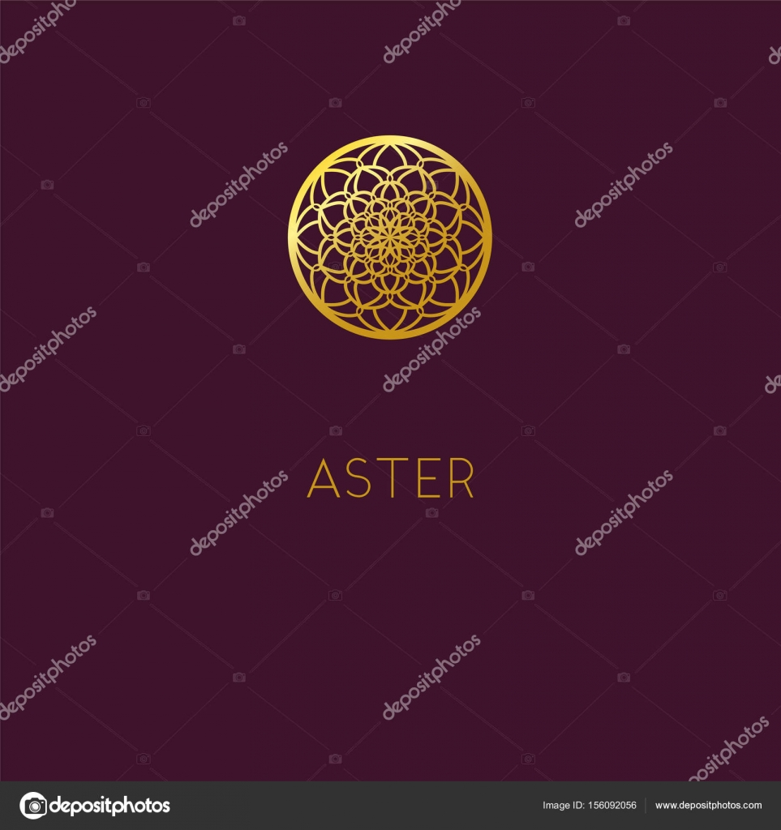 Abstract Flower Logo Icon Design Elegant Golden Daisy Symbol T