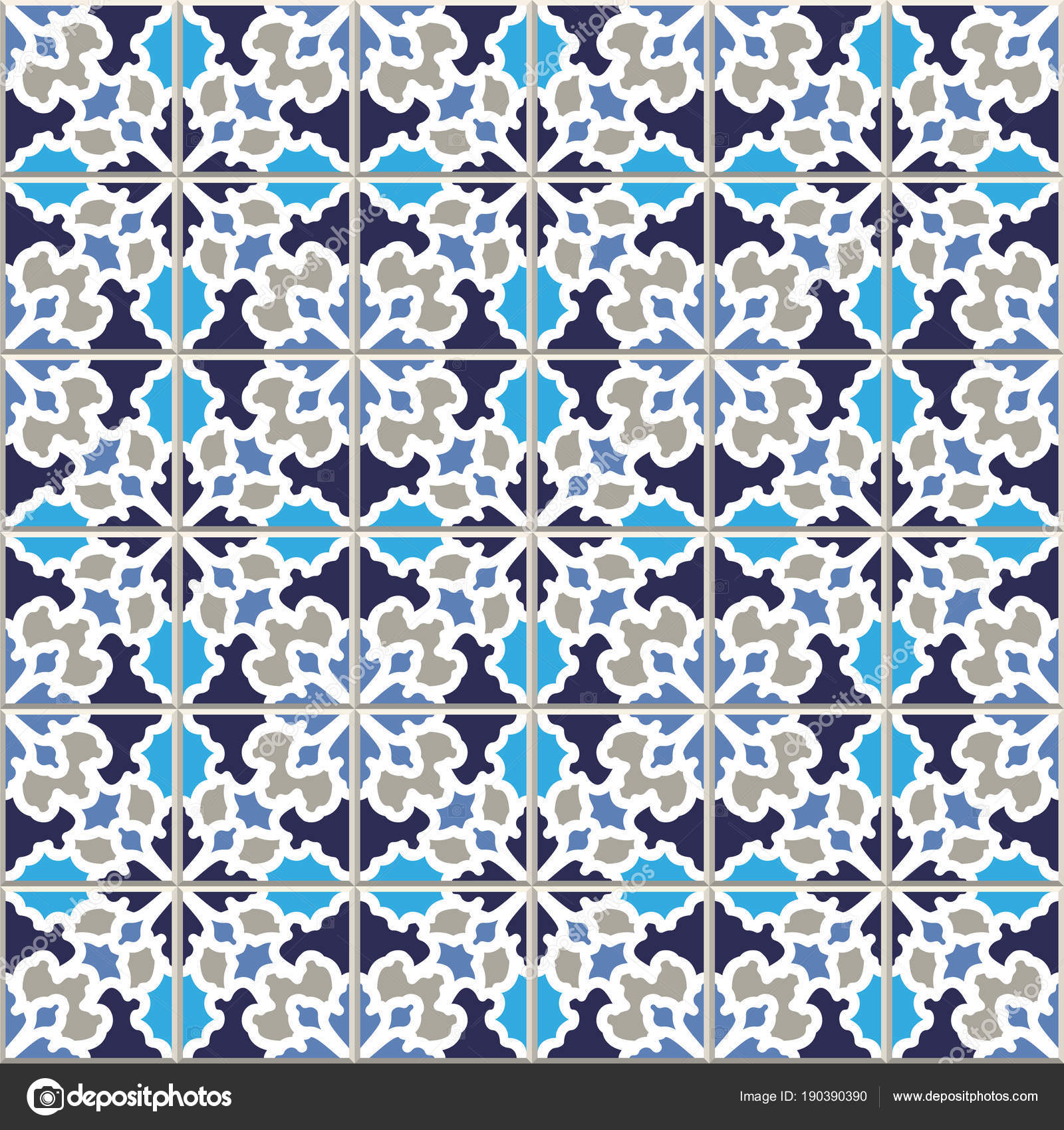 Vector seamless pattern, based on traditional wall and floor til ...