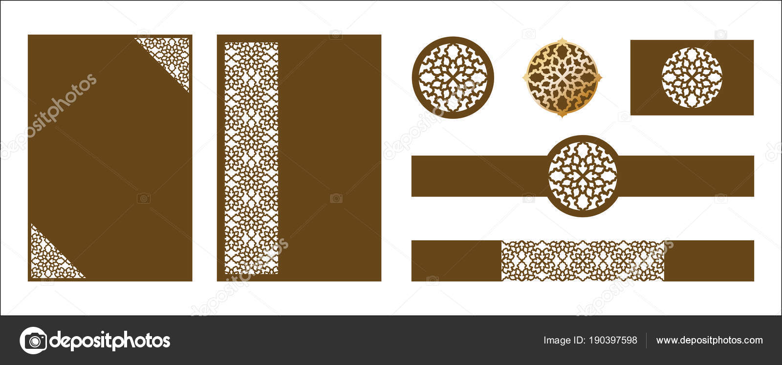 Laser cut ornamental vector template luxury greeting card wedd luxury greeting card wedding invitation card template belly band tags die cut paper card with openwork ornament cut out paper card for laser cutting or m4hsunfo