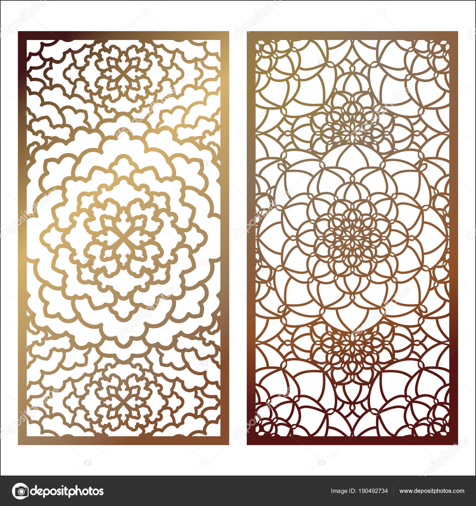 set of vector laser cut panel pattern template for decorative p