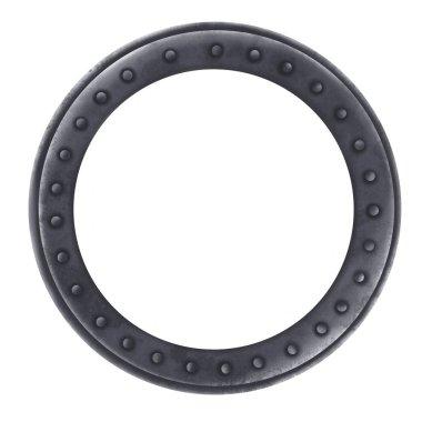 Gray marine porthole. Submarine porthole