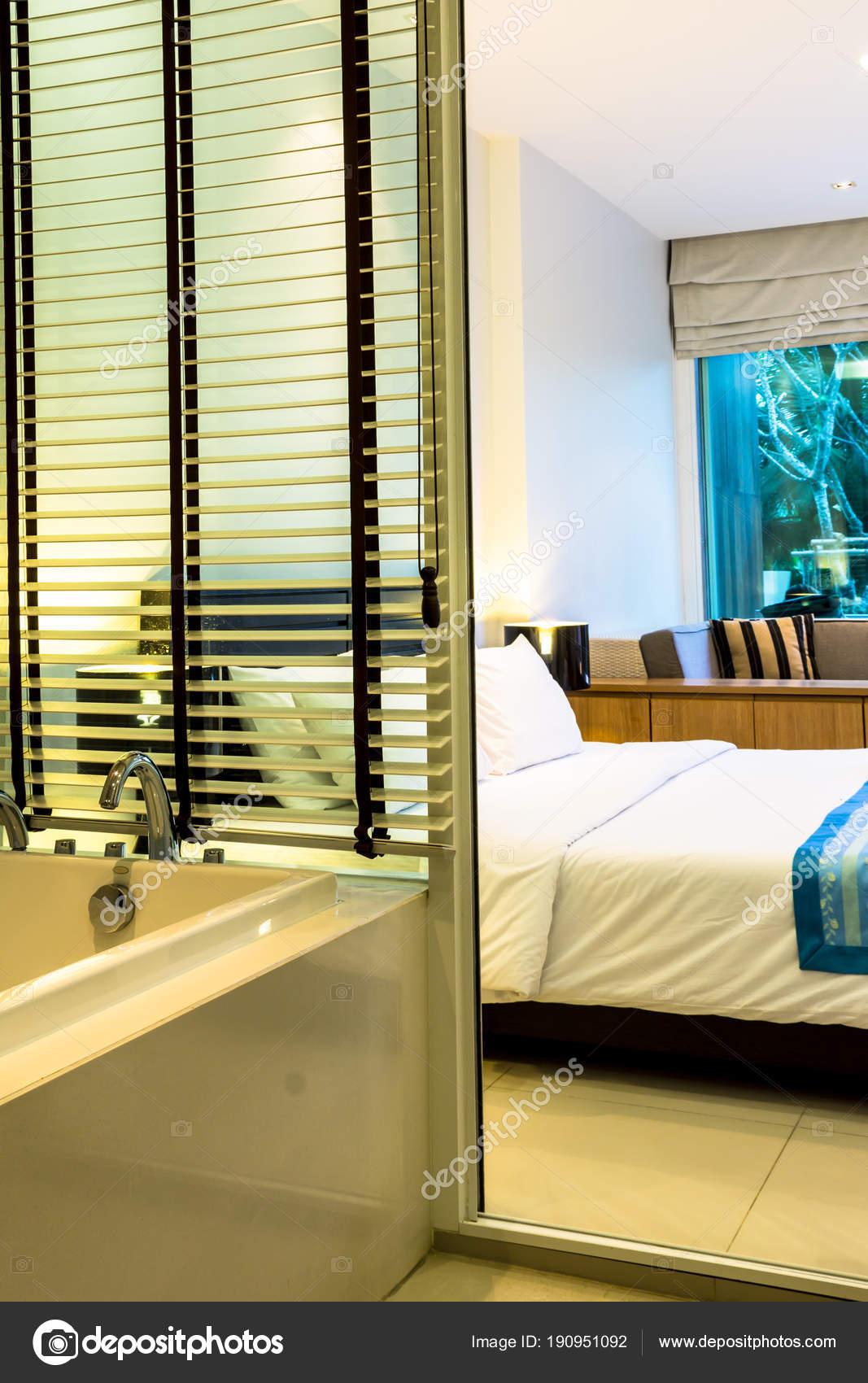 Moderne Schlafzimmer Dekoration Gemutlichen Zimmer Mit Zugang Zum