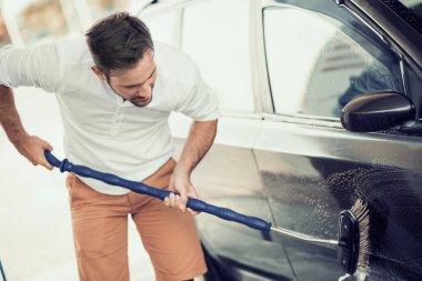 Car wash,close up