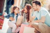 Fotografie glückliche junge Familie
