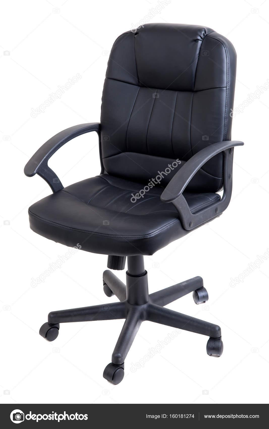Bureaustoel Stof Zwart.Bureaustoel Stof Zwart Leer Geisoleerd Op Wit Stockfoto C Dechevm