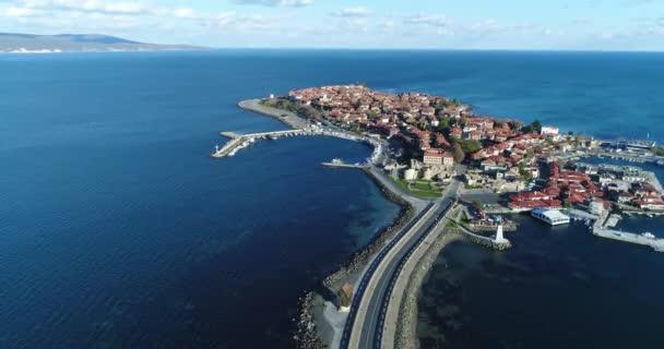 4K aerial footageof Nessebar, ancient city on the Black Sea coast of Bulgaria.