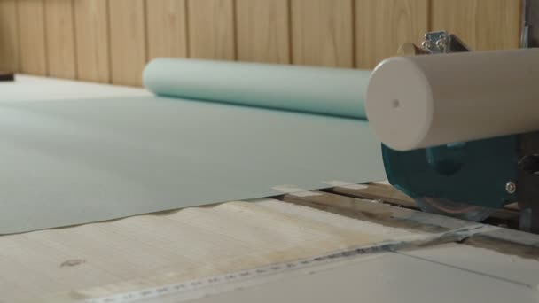 Produzione Tende A Rullo.Produzione Di Tende A Rullo Video Stock C Infocusvideo 152553364