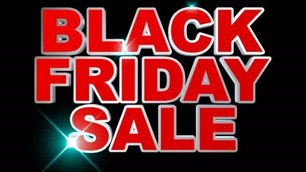 Černý pátek prodej animace