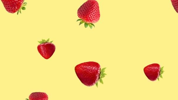 Absztrakt színes gyümölcs animáció