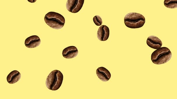 Abstrakte bunte Kaffeebohnen animation