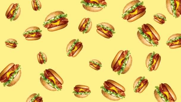 Abstraktní barevné burger animace
