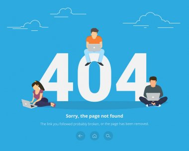 Error page not found concept illustration
