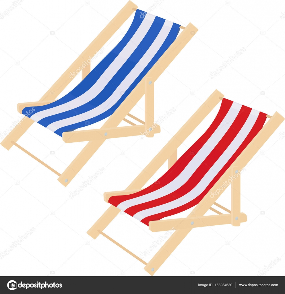 Astounding Flat Striped Beach Sunbed Lounger Chair Wood Isolated On Caraccident5 Cool Chair Designs And Ideas Caraccident5Info