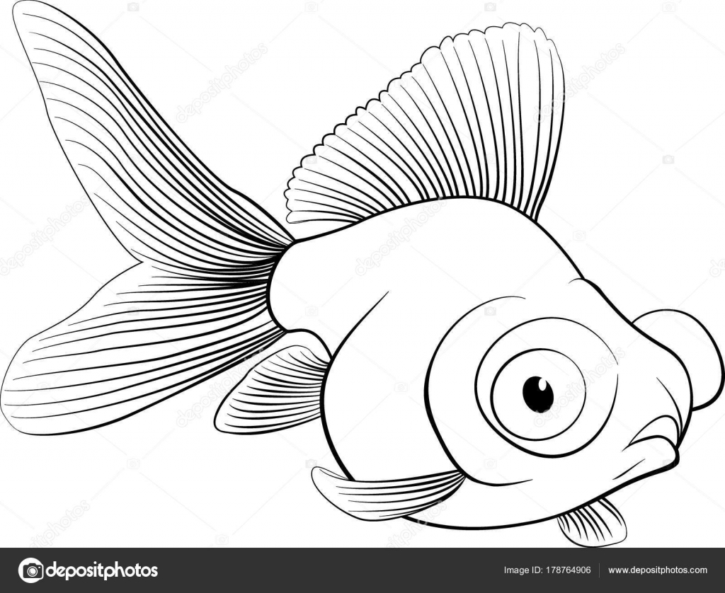 Sketch Of Aquarium Fish Vector Illustration Stock Vector