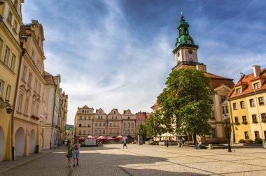 South-western Poland. Lower Silesia. Jelenia Gora. Summer 2017. Area market&