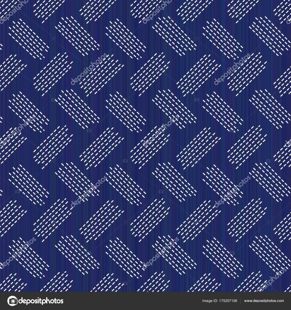 Weberei. Japanische Sashiko-Motiv. Nahtlose Muster — Stockvektor ...
