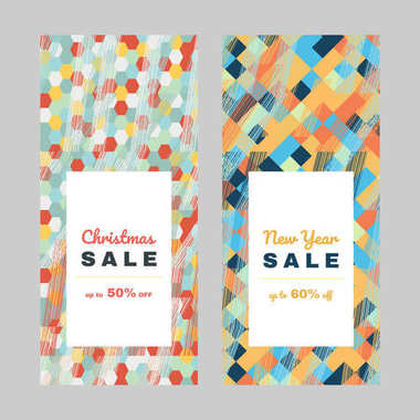 Shopping sale design. New Year offer. Copy space.