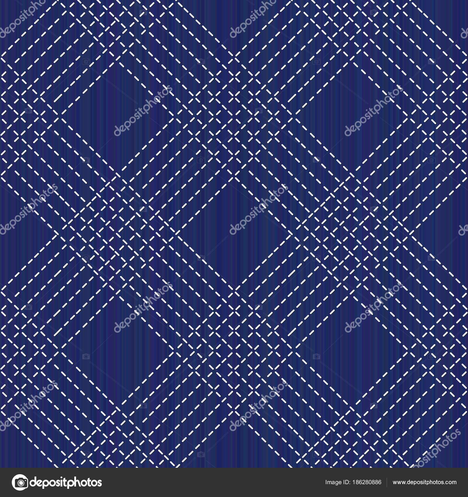 Sashiko. Abstrakte nahtlose Textur. Kimono-Muster — Stockvektor ...