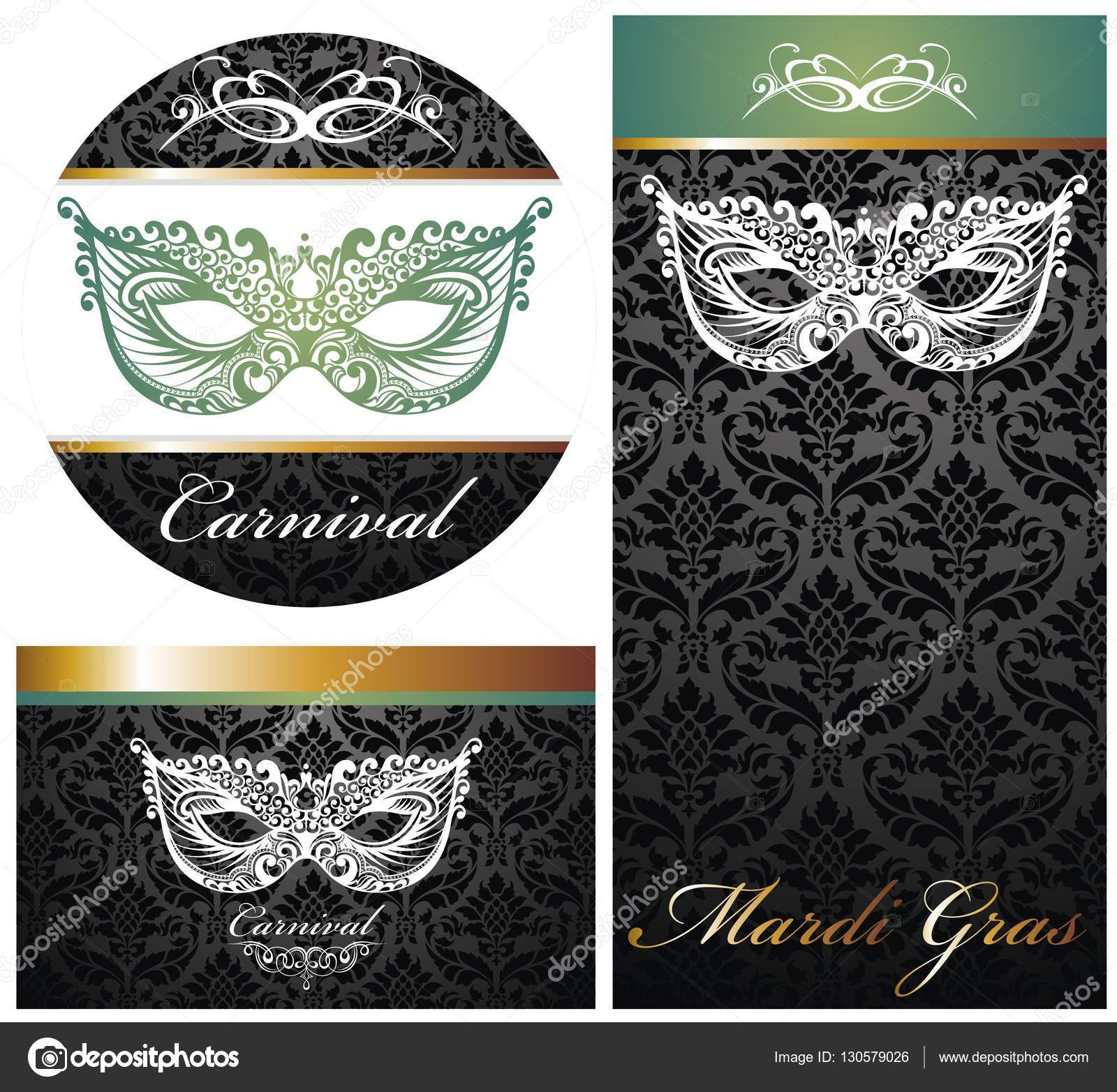 Beautiful Set Of Lace Masquerade Mask Vector By Ksyshakiss